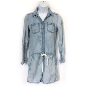 Lou & Grey distressed chambray romper size XXS